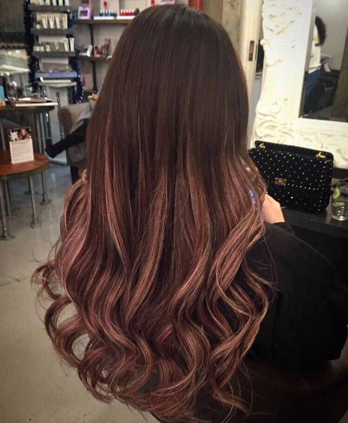 Rose brown hair balayage at Vauxhall and Nine Elms hair salon