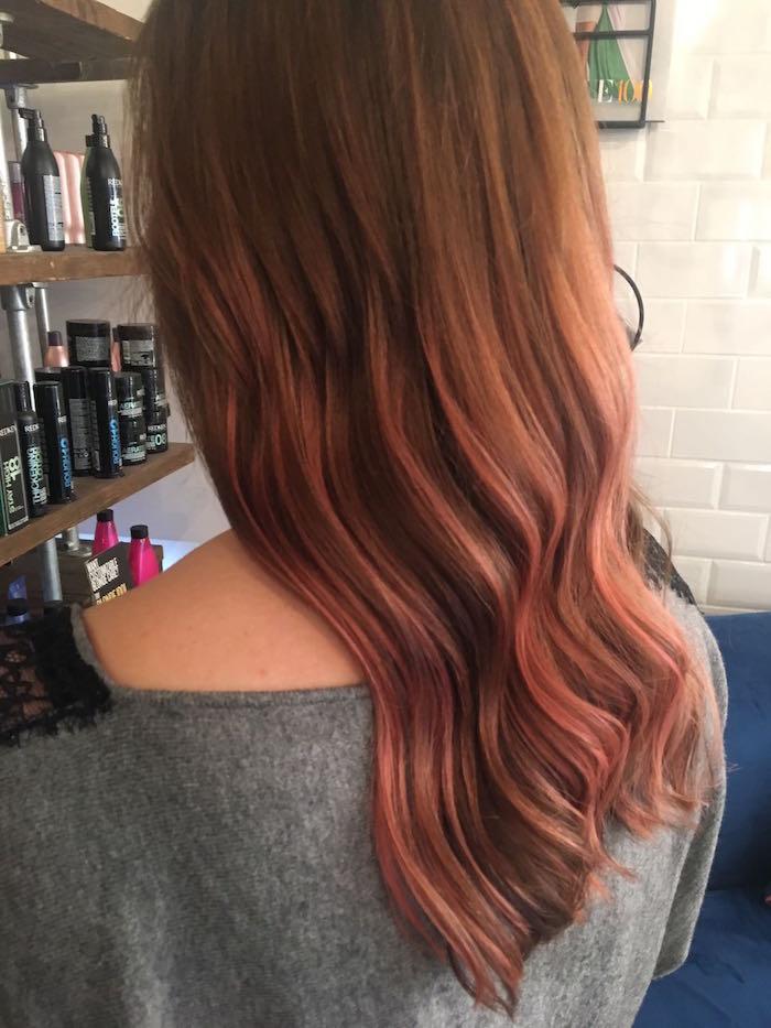 Rose brown hair at the Brixton salon