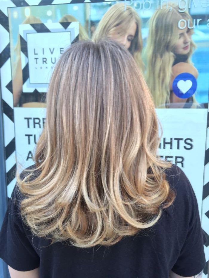 blonde hair highlights Brixton salon